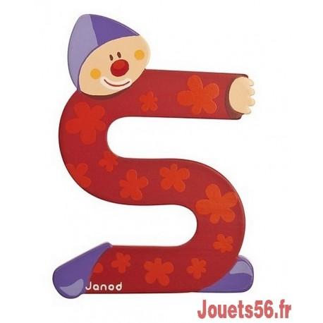 LETTRE S - CLOWN BOIS PEINT-jouets-sajou-56