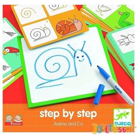STEP BY STEP ANIMO AND CO DESSINER PAS A PAS - Jouets56.fr - Magasin Jeux et Jouets dans le Morbihan en Bretagne