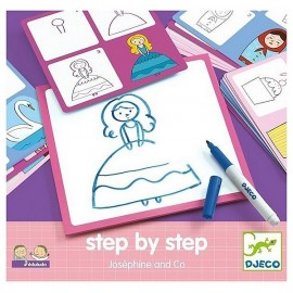 STEP BY STEP JOSEPHINE AND CO DESSINER PAS A PAS