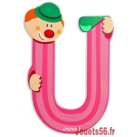 LETTRE U - CLOWN BOIS PEINT-jouets-sajou-56