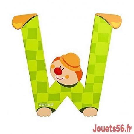 LETTRE W - CLOWN BOIS PEINT-jouets-sajou-56