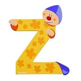 LETTRE Z - CLOWN BOIS PEINT-jouets-sajou-56