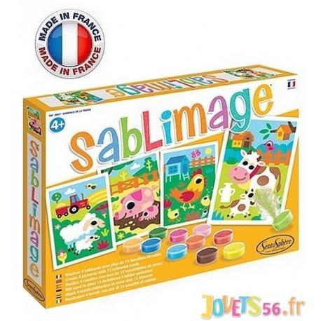 SABLIMAGE ANIMAUX DE LA FERME 4 TABLEAUX - Jouets56.fr - Magasin jeux et jouets dans Morbihan en Bretagne